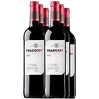 PRADOREY Roble - Vino tinto - Roble - Ribera del Duero - 95% Tempranillo, 3% Cabernet sauvignon, 2% Merlot - Vino joven con ligero paso por barrica - 6 Botellas - 0,75 L