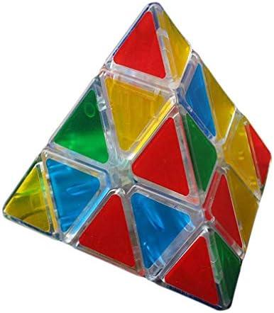 YiyiLai Pyramide Cube Transparente Transparente Transparente Plastique Puzzle Jouet   Adulte Jeu Educatif Vitesse Rapide c37a41