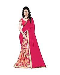 Airson Fab PinkOrange Designer Saree