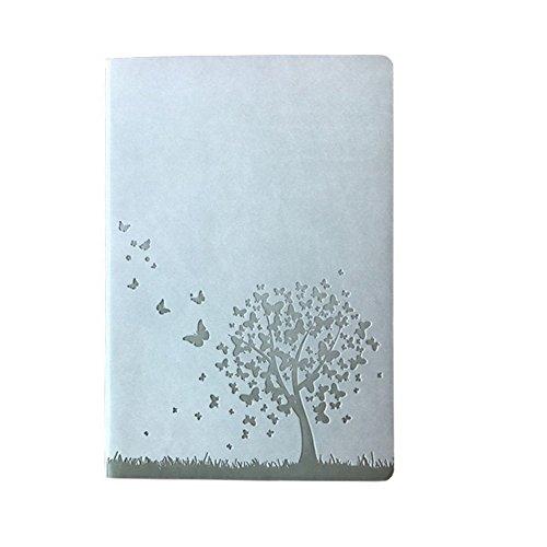 ruikey Weiche Haptik Bezug Kunstleder Creative Hardcover, liniert, 240Seiten CAHIER Note Notebook mit säurefreiem Papier Beste Geschenk für alle Stifte mit Kein Beschnitt 80gsm 145× 210mm A5Ref 21CM*14.5CM weiß (Papier Säurefreiem Notebook)
