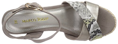 Marco Tozzi 28388, Sandales femme Beige (Taupe Comb 357)