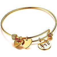 OMZBM Erste Erweiterbare Draht Armreif Original Features Edelstahl Verstellbare Armband Schmuck Gold