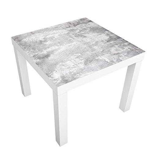 Moderne Ausdrücke Beistelltisch (Apalis Design Tisch Shabby Beton Look 55x 55x 45cm, Tisch Farbe: Weiß; Maße: 55x 55x 45cm)