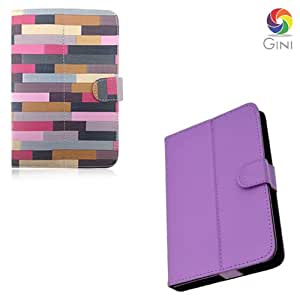 Gini 7 inches Flip cover forLenovo IdeaPad A1 Tablet Combo of Multicolor And Purple