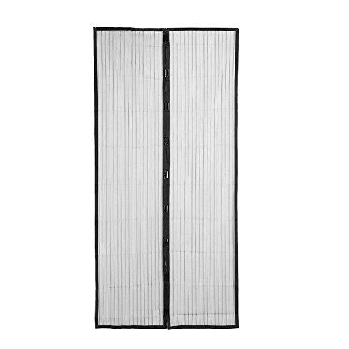 Domybest Cortina Mosquitera Anti mosquito Magnética para Puertas, Color Negro (90*210cm)