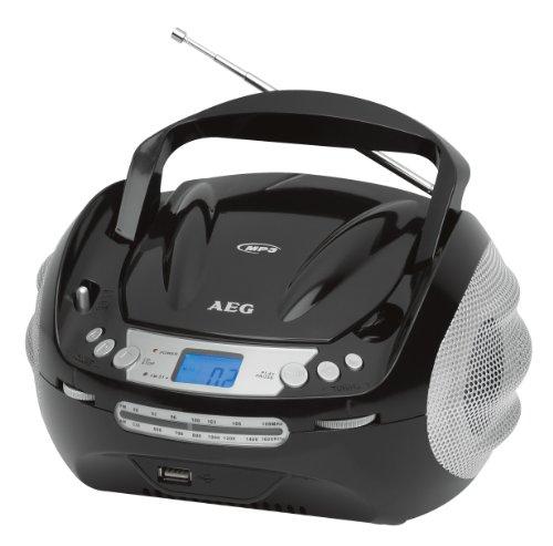 Preisvergleich Produktbild AEG SR-4346  Stereoradio (UKW/MW-Stereo, CD/MP3-Player, USB) schwarz/silber