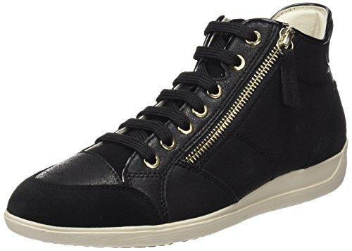 Geox D Myria C Sneaker a Collo Alto Donna Nero Black 35 EU T1b