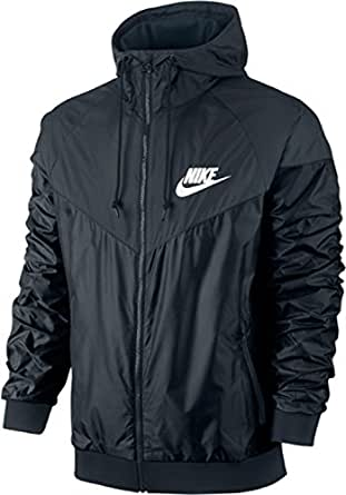 nike nike windrunner men 39 s jacket giacchetto nero 544119. Black Bedroom Furniture Sets. Home Design Ideas