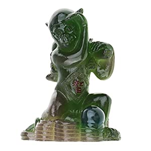 41pd4byGAGL. SS300  - Hellery Harz Tee Haustier Statue Figur Tischdekoration Glü Symbolisieren Gutes Geschenk Hund