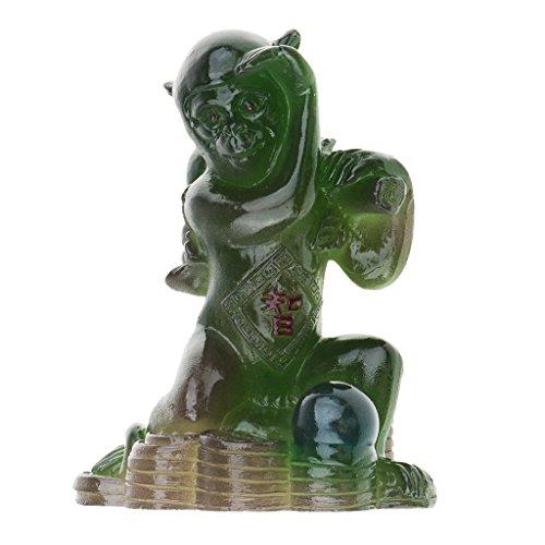 41pd4byGAGL - Hellery Harz Tee Haustier Statue Figur Tischdekoration Glü Symbolisieren Gutes Geschenk Hund