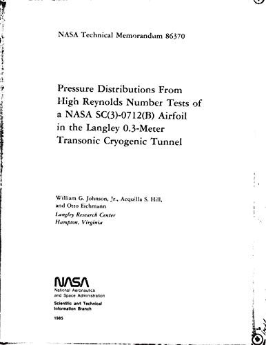 Pressure distribution from high Reynolds number tests of a NASA SC(3)-0712(B) airfoil in the Langley 0.3-meter transonic cryogenic tunnel (English Edition) -