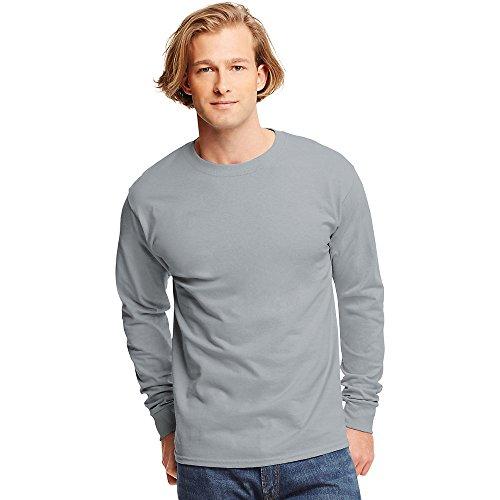 Hanes Tagless Long-Sleeve T-Shirt Light Steel