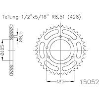 ESJOT - Corona plato transmision ESJOT Acero 50-15052 52 dientes - 41814