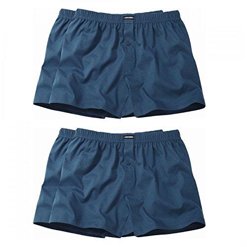 4 er Pack Ceceba Jersey Boxershorts Pant Unterhosen Herren marine navy blau Größen XL - 8XL, Grösse:8XL - 18 - 68;Farbe:blau