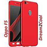 Dream2Cool 360 Degree IPaky Style Full Body Protection Front & Back & Tempered Glass Case Cover For Oppo F5/Oppo F5 Youth (Red)