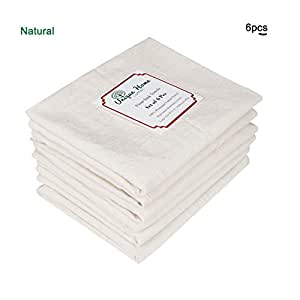 100% Premium Organic Cotton flour sack towels - Natural