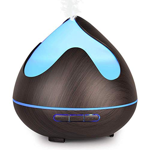 InnooCare 300ml Difusores de aceites Esenciales,Humidificador Eléctrico Ultrasónico con 7 Colores LED, Apagado Automático Seguro, Temporizador de 4 Modos para Yoga, Hogar, Habitación, Oficina