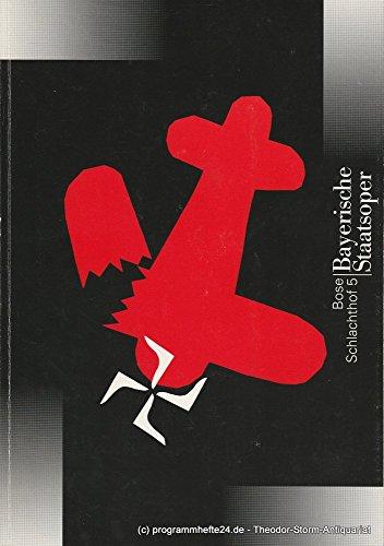 Programmheft Uraufführung SCHLACHTHOF 5 von Hans-Jürgen Bose 1. Juli 1996 im Nationaltheater