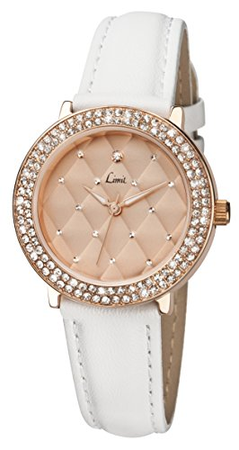 limit-womens-quartz-watch-with-rose-gold-dial-analogue-display-and-white-polyurethane-strap-610601