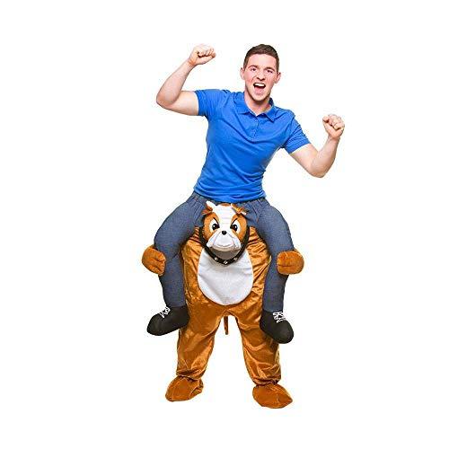 Carry Me® Bulldog Erwachsene Kostüm (Eine Größe)