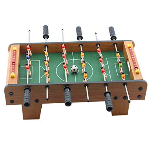 Foosball Soccer Competition Table Top Set Spielzimmer Sport mit ergonomischen Griffen Analoge Trefferanzeige und Beinplaner Familienspaß-Spiel ( Farbe : One color , Größe : 19.7\'\'*9.8\'\'*6.1\'\' )
