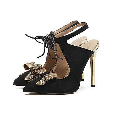NVXZD Da donna-Tacchi-Matrimonio Ufficio e lavoro Formale Casual Serata e festa-Club Shoes Comoda Innovativo-A stiletto-Tulle Finta pelle-Nero Grigio