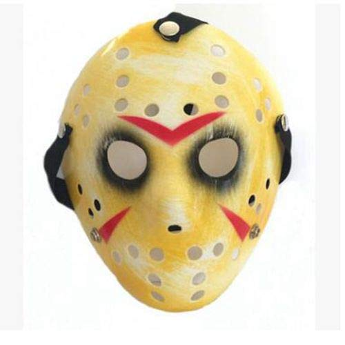 Dodom New Jason vs Freitag der 13. Horror Hockey Cosplay Kostüm Halloween Killer Maskerade Maske Halloween Maske, Bildfarbe (Freitag Der Vs Halloween 13)