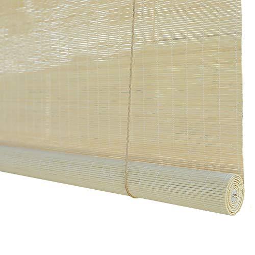 Estor enrollable YXX Persianas enrollables de bambú Natural con Cenefa Plana, 60{296e98fc4f93a6254b12d5aba3551e1498b1e01d4c6e7200f4be30de64e4a1bb} de Bloqueo de luz/Oscurecimiento de la Sala de Cortinas para Ventanas, fácil de Instalar (Tamaño : 150x200cm)