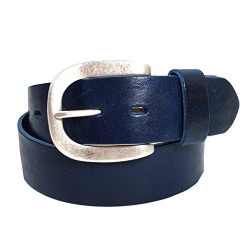 Esprit Damengürtel DN SupPlus Blau 074EA1S007-E406 Jeansgürtel Leder Jeans Hosen Gürtel Damen Hosengürtel Ledergürtel Blau