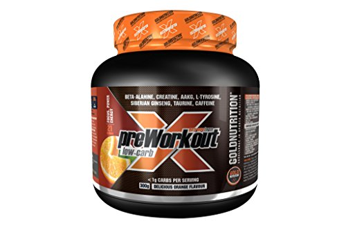 Extreme Force Pre-Workout Low Carb Suplemento para Deportistas Sabor Naranja - 300 gr