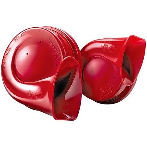 Hella 3FH 007 424-811 - Bocina eléctrica de dos tonos, color rojo
