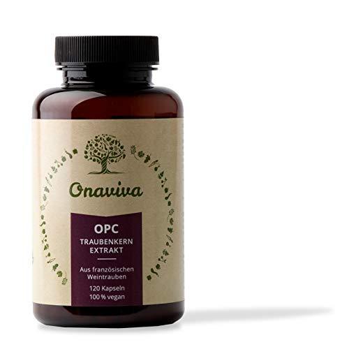 OPC Traubenkern-Extrakt Kapseln   Hochdosiert 300 mg reines OPC pro Tagesdosis   120 Kapseln   Vegan & Natürlich   Aus französischen Weintrauben   Hergestellt in Deutschland