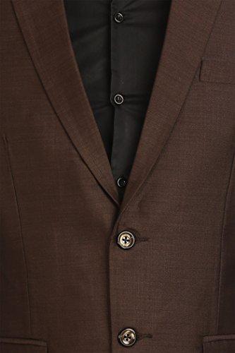 Wintage - Costume - Uni - Manches Longues - Homme marron foncé