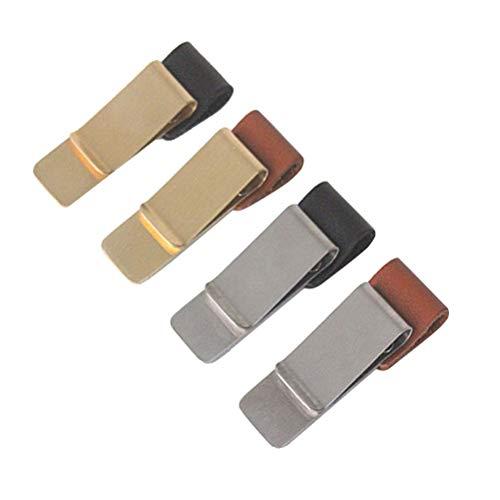 Toyvian 4pcs Stifthalter Schleife Metall Stifthalter Leder Bleistift Clip für Dairy Notebook Memo Journal - Größe M Leder Clips