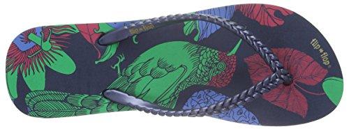 flip*flopSlim kolibri - Sandali Donna Multicolore (Mehrfarbig (DEEP night 032))