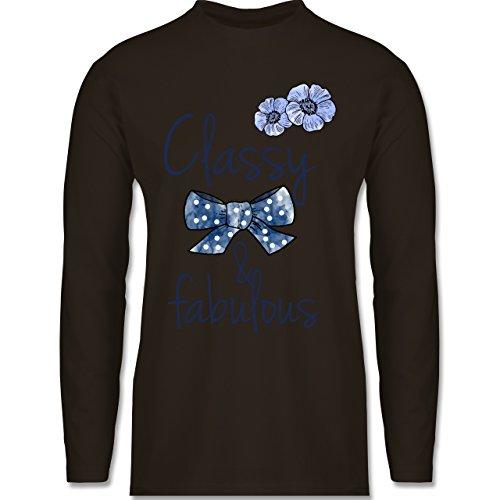 Shirtracer Statement Shirts - Classy and Fabulous - Herren Langarmshirt Braun