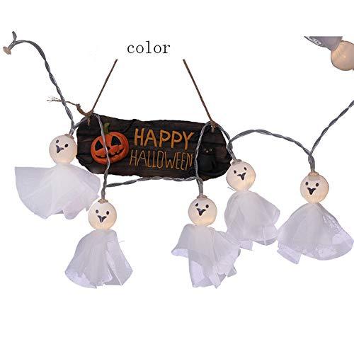 WO NICE Halloween Batterie Lichterketten Sunny Puppe Form 2,5 Meter 20led Batteriebetriebene wasserdichte Frostschutzmittel Led Fairy Lichterketten Geeignet Für Halloween Party,Color