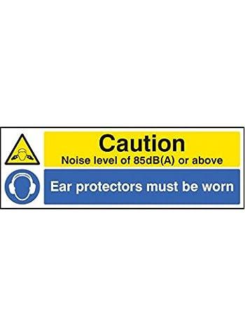 Nouvelle-Calédonie Signes 15222Paquet M Niveau sonore 85dB (A) Protecteurs d'oreille porté Panneau, 600mm x 200mm, en plastique rigide