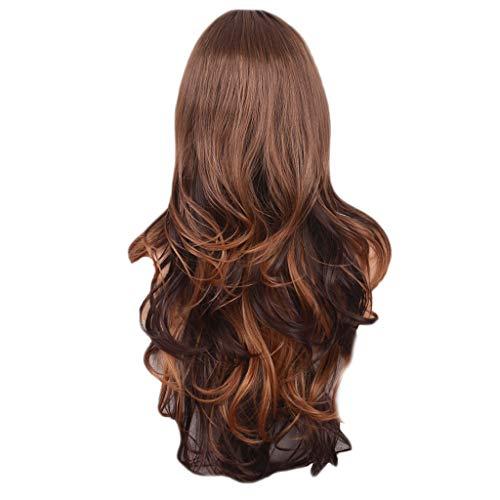 FORH Haarverlängerungen Mix Farben Mode Cosplay Synthetische Lange Lockige Haar Perücke Kostüm Perücken Für Party