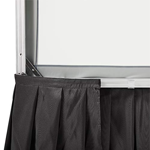Visual Apex Projector Screen Black Presentation Screen Skirt Kit