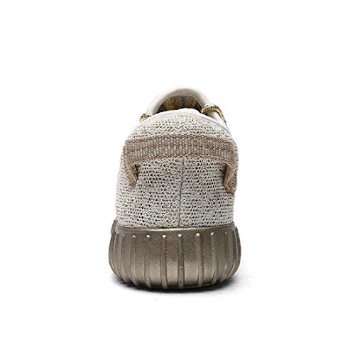 Uomo scarpe per il tempo libero traspirante Leggero Piatto Casa Scarpe casual scarpe basse beige