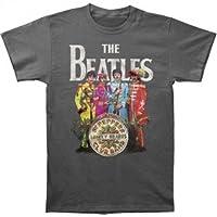 Maglietta ufficiale dei BEATLES, motivo: Sgt Pepper, colore: grigio, Sergeant tutte le misure - Beatles Revolution T-shirt