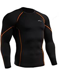 emFraa Homme Femme Sport Compression Black Base layer T-Shirt Long sleeve S~XL