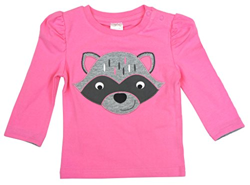 Rosa Langarmshirt mit einem grauen Racoon. 100% Baumwolle. Passende Leggings erhältlich.Listing ist nur für Top