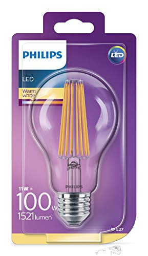 Philips Lighting Lampadina LED Classic Goccia E27, 11 W Equivalenti a 100W
