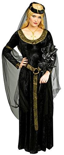 Schwarze Prinzessin Burgfräulein Kostüm Gr. 48 (Kostüm Ideen Böse Fee Halloween)