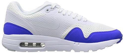Nike Air Max 1 Ultra Essential, Chaussures de Sport Homme Blanc (White/pure Platinum/racer Blue/white)