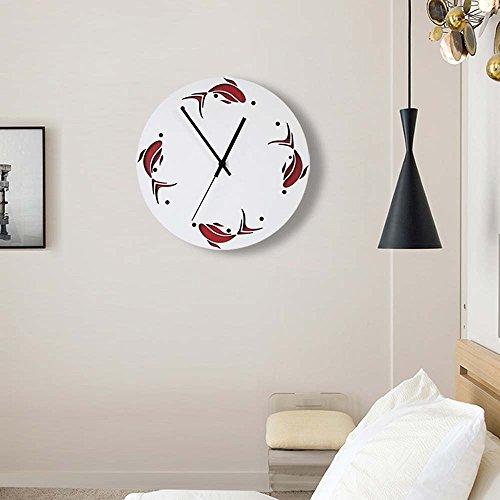 Horloge Murale Unique De Poissons Non-Coutil Enfants Rome Art Décoration