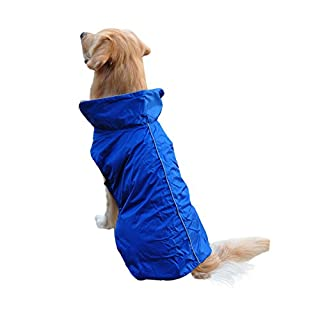 Anladia Hoodie Hund Regenmantel Haustier Regenmantel Regenjacke Hunderegenmantel Wasserdicht Kleidung pet Dog Raincoat L