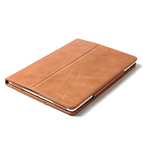 boriyuan-Apple-Ipad-Air-2-Echt-Ledertasche-Smart-Case-Hlle-im-Bookstyle-mit-mit-Standfunktion-Magnetverschluss-Ipad-Air-2-2014-Braun